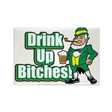 Drink_Up_Bitches_Paddy_dark Rectangle Magnet