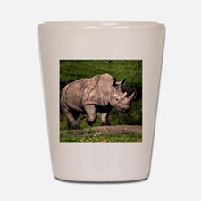 (2) Rhino on Hill Shot Glass