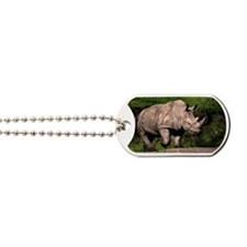 (3) Rhino on Hill Dog Tags