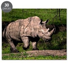 (3) Rhino on Hill Puzzle