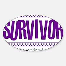 purple_survivor Sticker (Oval)