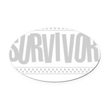 grey_survivor Oval Car Magnet