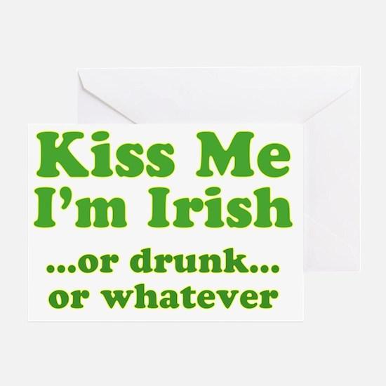 kiss_me_im_irish_or_whatever_both Greeting Card