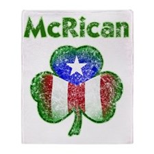 McRican distressed both Throw Blanket