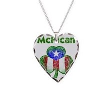 McRican distressed both Necklace Heart Charm
