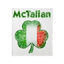 McTalian distressed both Throw Blanket
