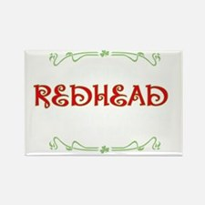 natural redhead carpet matches dr Rectangle Magnet