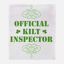 official_kilt_inspector_dark Throw Blanket