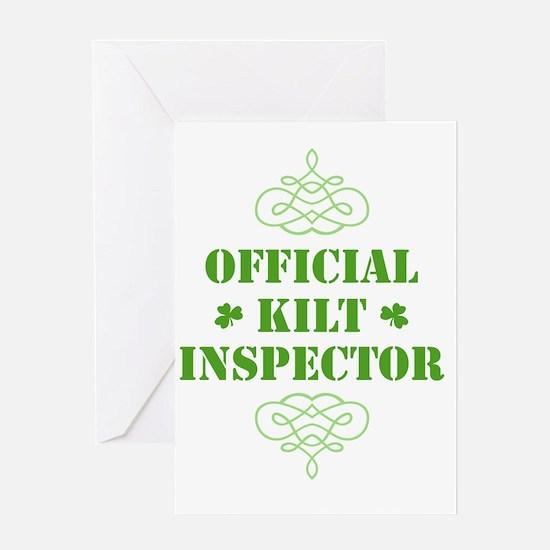 official_kilt_inspector_dark Greeting Card