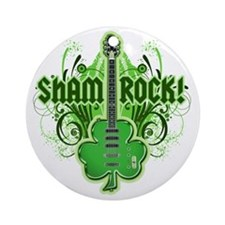sham_ROCKS_filligree_and_text_both Round Ornament