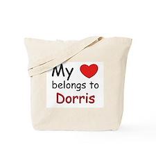 My heart belongs to dorris Tote Bag