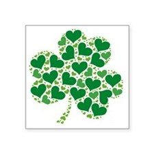 """shamrock_made_of_hearts_bot Square Sticker 3"""" x 3"""""""