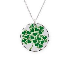 shamrock_made_of_hearts_both Necklace Circle Charm