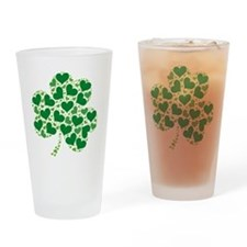 shamrock_made_of_hearts_both Drinking Glass
