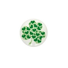 shamrock_made_of_hearts_both Mini Button
