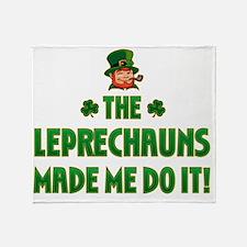 the_leprechauns_made_me_do_it_dark Throw Blanket