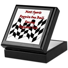racing slogan Keepsake Box