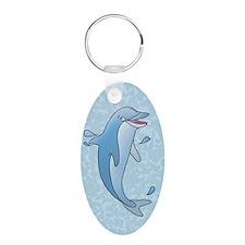 dolphin-2.5x3.5ornament_ova Keychains
