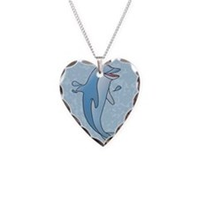 dolphin-2.5x3.5ornament_oval Necklace