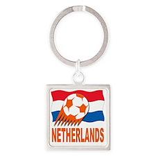 NETHERLANDS E Square Keychain