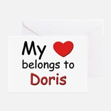 My heart belongs to doris Greeting Cards (Package