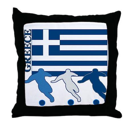 Soccer Greece Throw Pillow