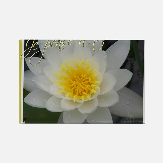 Water Lily French Rectangle Magnet