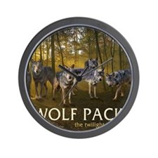 Eclipse Wolf Pack Wall Clock