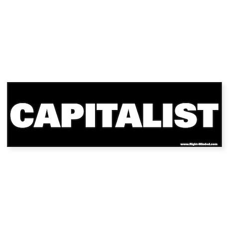 """CAPITALIST!"" conservative bumper sticker"