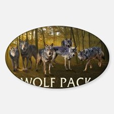 Eclipse Wolf Pack Sticker (Oval)