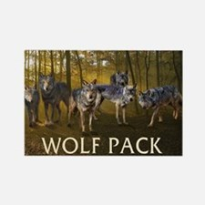 Eclipse Wolf Pack Rectangle Magnet