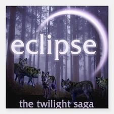 "Twilight Eclipse Square Car Magnet 3"" x 3"""