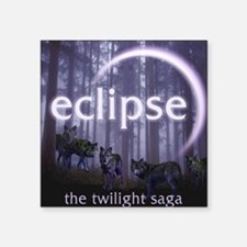 "Twilight Eclipse Square Sticker 3"" x 3"""