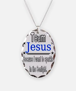 Team Jesus sonlight Necklace Oval Charm