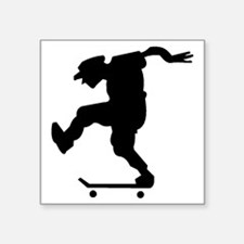 "AIRWALK SKATEBOARDER BLACK Square Sticker 3"" x 3"""