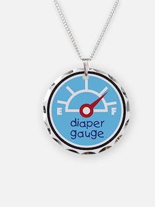 diaper gauge blue Necklace