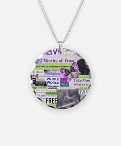 recovery11x9calendar Necklace Circle Charm