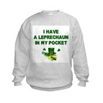 Pocket Leprechaun Kids Sweatshirt