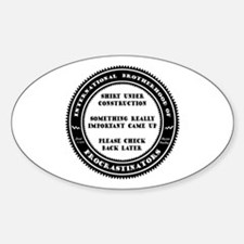 Under Construction Oval Decal