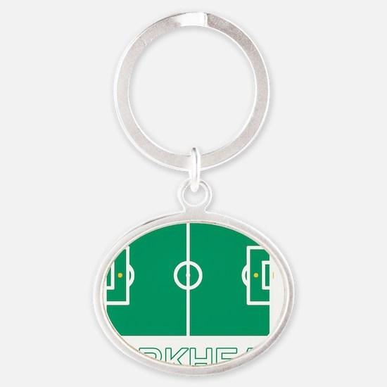2-PITCH copy Oval Keychain