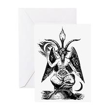 Der_Daemon_Baphomet Greeting Card