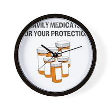 Heavily medicated-1 Wall Clock