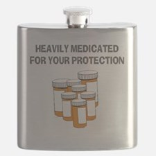 Heavily medicated-1 Flask