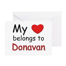My heart belongs to donavan Greeting Cards (Packag