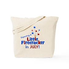 expectingalittlefirecrackerinjuly Tote Bag