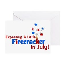 expectingalittlefirecrackerinjuly2 Greeting Card