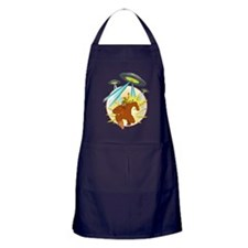 squatch_vs UFO Apron (dark)