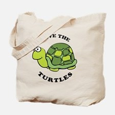 Save Turtles BBtn Tote Bag