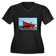 Rum Punch Women's Plus Size Dark V-Neck T-Shirt