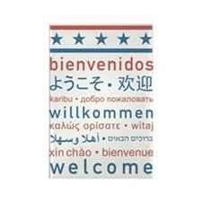 welcome8 Rectangle Magnet
